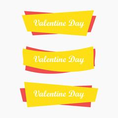 Valentine day  banner icon