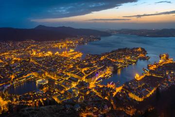 Bergen night view