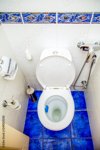 Modern Toilet Room Toilet Bidet Air Freshener Towel And Other