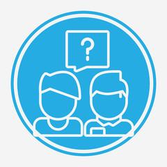 Question vector icon sign symbol