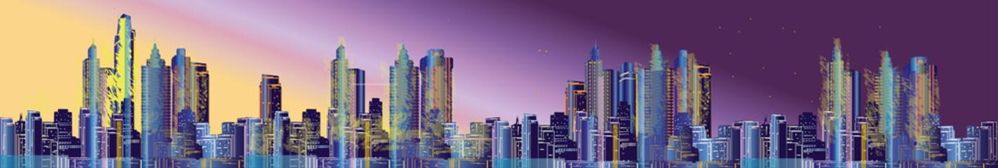 night city long panorama