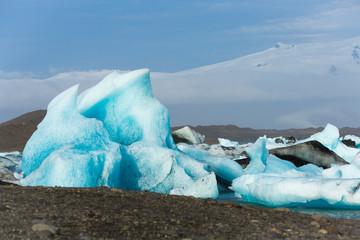 Scenic view of Glacier Lagoon, Jokulsarlon, on South Iceland, Travel Destinations Concept