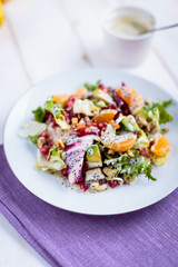 Salad with  tangerines