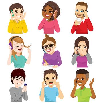 Speaking Smartphone People Set
