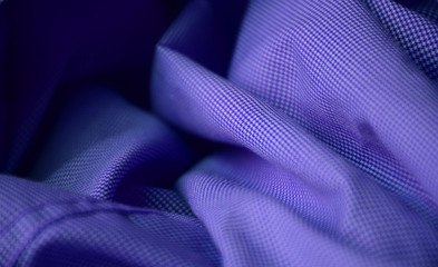 Blue full frame wrinkled shirt fabric