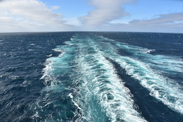 View of Pacific Ocean from a Cruise Ship