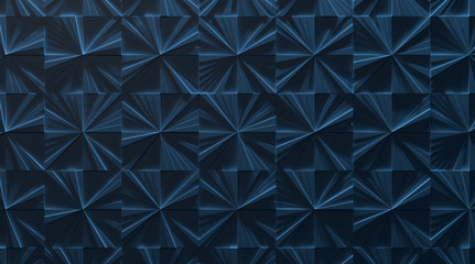 Blue Tiled Panel Background (3D Illustration)