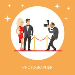 Photographer Making Photos of Popular Movie Stars