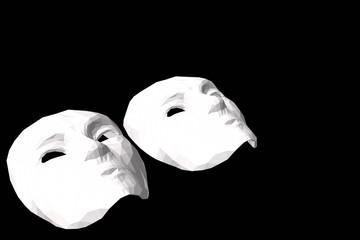 Vector mask  white