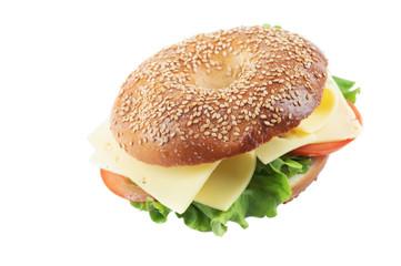 Homemade Bagel Cheese Sandwich