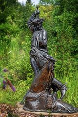 Baron Muenchhausen sculpture, Bodenwerder, Germany