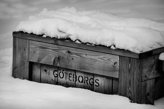 snow in Gothenburg