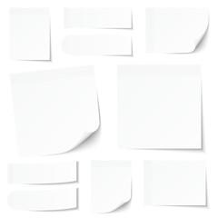 White Stick Notes Set
