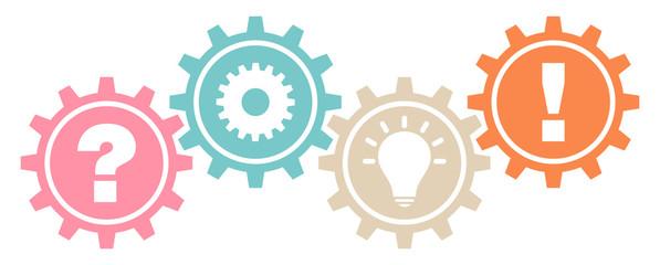 4 Gears Question, Work, Idea & Answer Retro