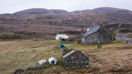 Crofter Isle of Harris, outer hebrides, Schottland