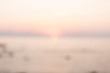 Defocused background with soft colorful sunset. Blur landscape.