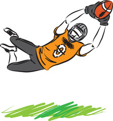 football man player vector illustration