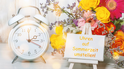 Erinnerung: Uhren auf Sommerzeit umstellen