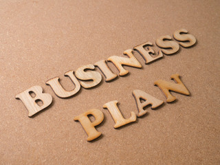 Business Plan. Words Typography Concept