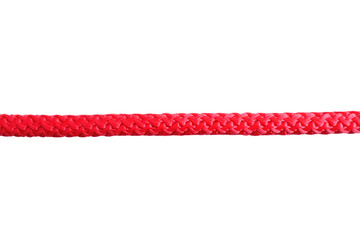 Color rope on white background. Simple design