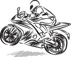 biker man vector illustration