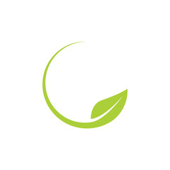 Leaf icon graphic design template vector