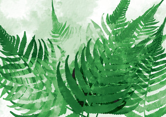 Abstract background leaf watercolor style on green theme, illustration picture
