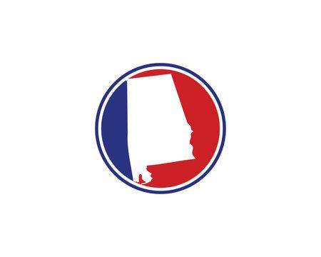 Alabama Circle Logo Icon 001