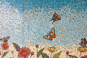 abstract mosaic butterfly
