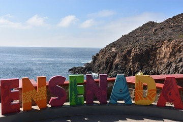 Ensenada sign in Mexico
