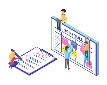 Schedule Planning on Clipboard, Business  Strategy