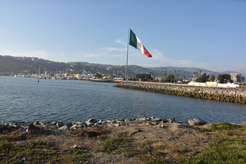 Mexican Flag in Ensenada, Mexico