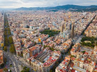 Autocollant pour porte Barcelona Aerial view of Barcelona