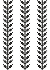 Seamless Scandinavian Pattern with Leaves. Hygge Style.