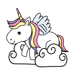 cute magic unicorn