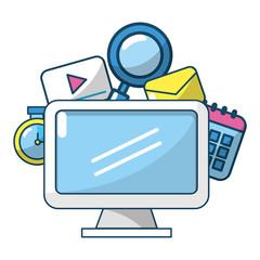 technology computer screen cartoon