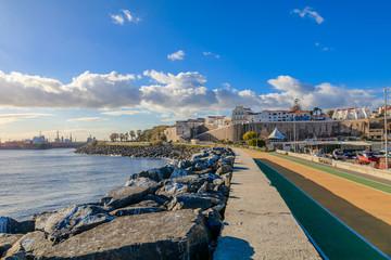 Vista da Cidade de Sines em Portugal