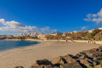 Vista da Cidade de Sines e da Praia Vasco da Gama, Alentejo, Portugal