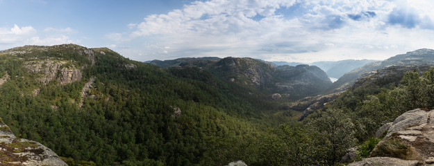Panorama over forest in the north