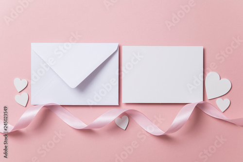 Blank love letter, valentine's day, wedding invitation
