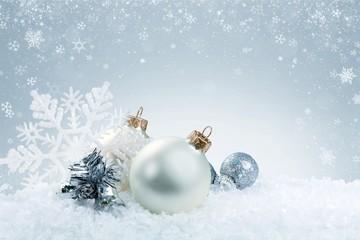 Christmas decorations isolated  on white background