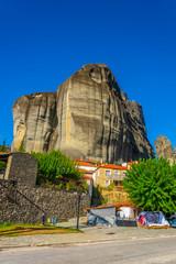 View of Kastraki village in Greece