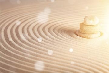 Photo sur Plexiglas Zen pierres a sable Zen stones in the sand. Background