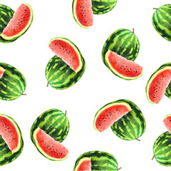Watermelon. Texture pattern of watermelon pattern isolated on white background