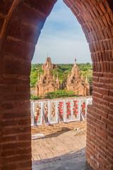 BAGAN, MYANMAR - DECEMBER 9, 2016: Souvenirs for sale at the Temple No 860 in Bagan, Myanmar