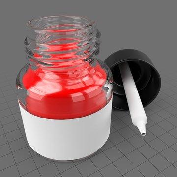 Open dropper ink bottle