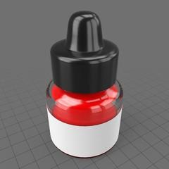 Acrylic ink bottle
