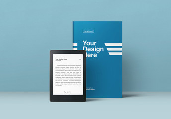 Book and eBook Reader Mockup