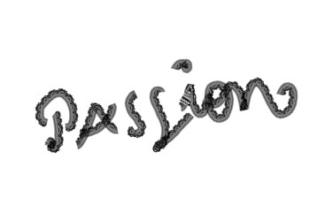Passion Text With Lace, in vector.