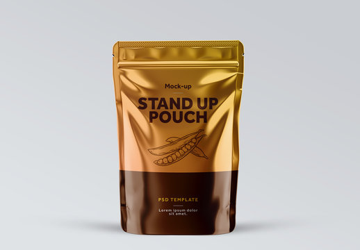 Glossy Plastic Pouch Mockup